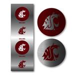 Round Coug Head Sticker Set
