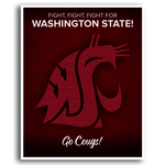 Poster, WSU Fight Song
